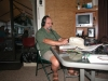 Here Mike (KD8JB) works on HF.