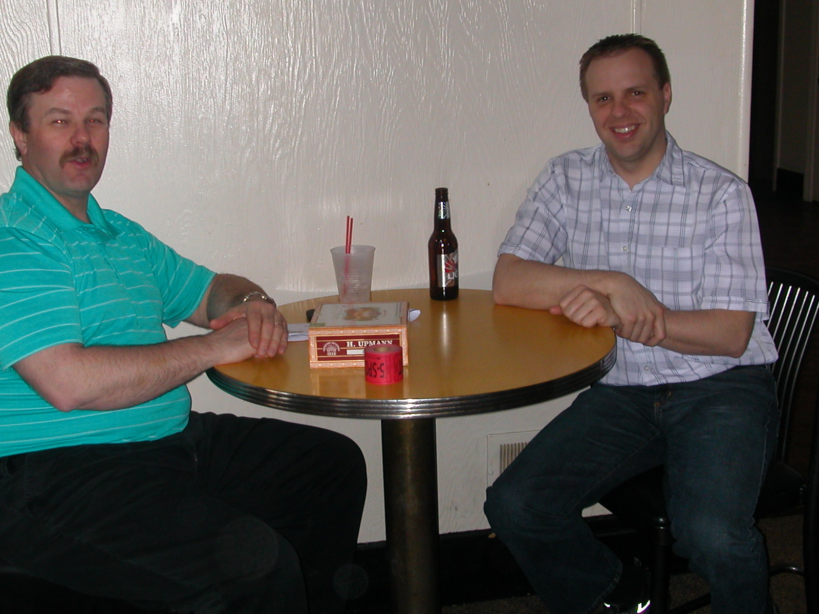 Corey (KD8SZZ) and Jason (KD8UCP) at the cashier's table.